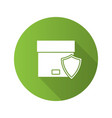 secure delivery flat design long shadow glyph icon vector image