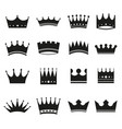 Set modern crowns icons