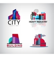 set of colorful building logos icons vector image