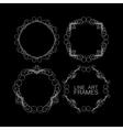 set of floral monogram frames line art vector image vector image