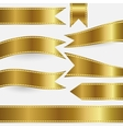 set of gold ribbons vector image vector image