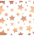 shiny copper foil stars seamless pattern vector image vector image