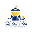 tailor shop logo dressmakers salon sewing studio vector image vector image
