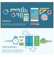 Time is money and finance concept vector image vector image
