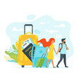 tourism concept background vector image