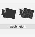 washington counties outline vector image
