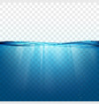 water wave surface vector image vector image