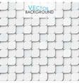 White modern geomitric background with little vector image vector image