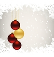 christmas card with bals vector image