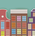 Original three paper houses on a light background vector image