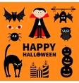 Count Dracula monster spider bat owl red eye vector image