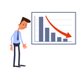 Frustrated businessman vector image
