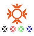 human collaboration icon vector image