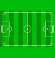 soccer field top view vector image
