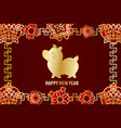 2019 chinese new year yellow pig vector image