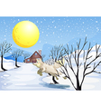 A wolf in the snow vector image