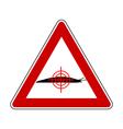 Aim at slugs warning sign vector image vector image