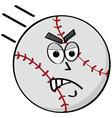 angry baseball vector image