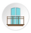 balcony in french style icon circle vector image vector image