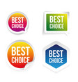 best choice label tag set vector image vector image