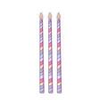 birthday candles cartoon vector image