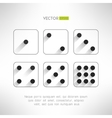 Black and white dice icons set in modern flat vector image vector image