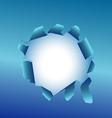 blue torn paper vector image