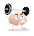brain training with barbell vector image vector image
