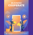businessman cooperate startup team poster layout vector image vector image