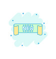 cartoon new ribbon icon in comic style discount vector image