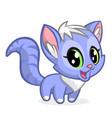 cartoon of cute cat vector image vector image
