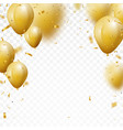 celebration background with gold confetti and ball vector image vector image