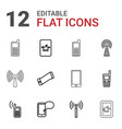 cellular icons vector image vector image