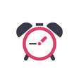 clock alarm icon - time sign - flat vector image vector image
