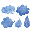 clouds and drops vector image vector image