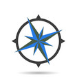 compass icon with shadow vector image