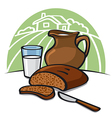 country breakfast vector image vector image