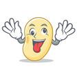 crazy soy bean mascot cartoon vector image vector image