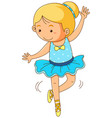 cute girl doing ballet on white background vector image vector image