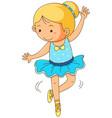 cute girl doing ballet on white background vector image