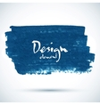 Dark blue paint grunge stain vector image vector image