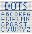 dots font poster vector image vector image