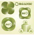 eco bio and organic labels vector image vector image