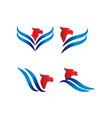 elegant eagle logo design template vector image vector image