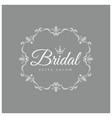 elegant vintage emblem bridal salon vector image