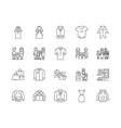 family clothing stores line icons signs vector image vector image