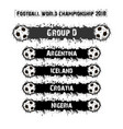 football championship 2018 group d vector image vector image