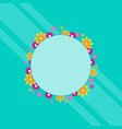 frame with flower spring theme art vector image vector image