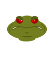 frog angry emoji toad avatar evil amphibious vector image vector image