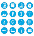 funeral and burial icon blue vector image vector image